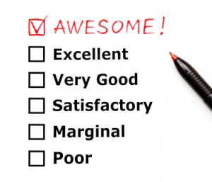 Awesome customer evaluation form